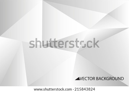 Grey vector background with triangles, triangle design, geometrical pattern with polygons - stock vector