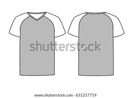 Grey Vector Males Females Vneck Tshirt Stock Vector 631257719 ...