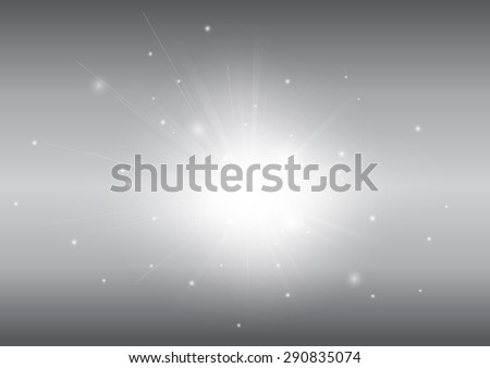 Grey with glowing light ray beam abstract background - stock vector