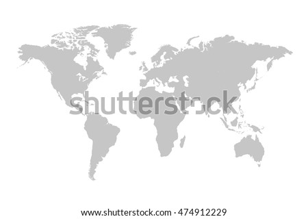 Grey world map illustration on white vectores en stock 474912229 grey world map illustration on a white background gumiabroncs Choice Image