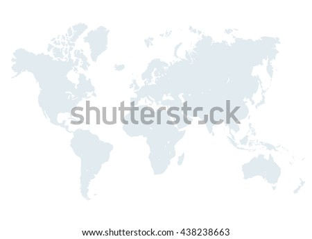 Grey world map vector illustration empty vectores en stock 438238663 grey world map vector illustration empty template without country names text isolated on white gumiabroncs Images