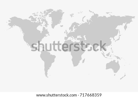 Grey world map vector isolated on stock vector 717668359 shutterstock grey world map vector isolated on white background graph worldmap template globe illustration gumiabroncs Gallery