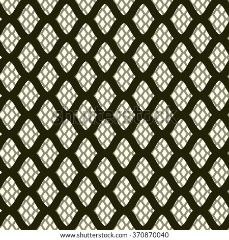 Grid. Abstract geometric background. Seamless vector pattern. Mesh with large cells at the front and a fine mesh in the background. Repeating pattern for modern design. - stock vector