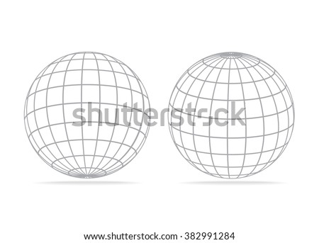 grid earth globe icon - stock vector