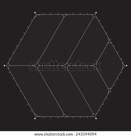 Grid for modern virtual technology futuristic user interface HUD - stock vector