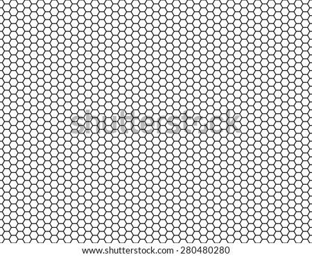 Grid seamless background. Hexagonal cell texture, Honeycomb, Speaker grille. Vector - stock vector