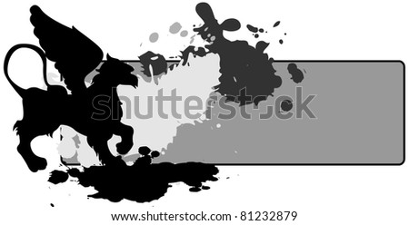 Griffin background (blots and drops)