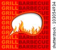 Grill background. - stock vector