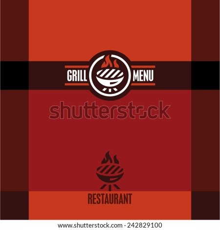 Grill menu. Grill icon. - stock vector