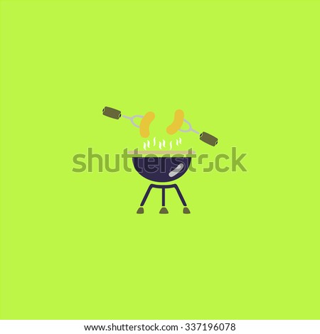 Grill Or Barbecue. Icon Vector.
