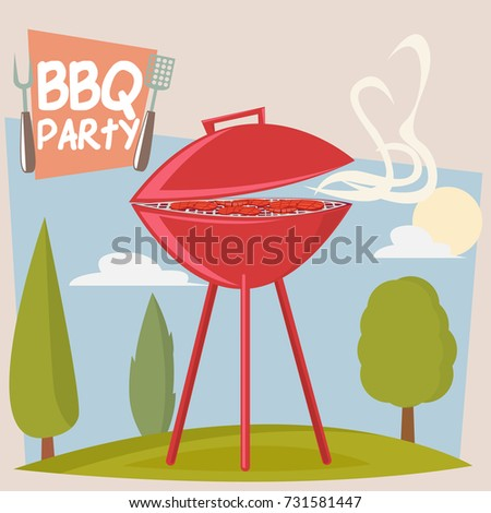 Grill party concept