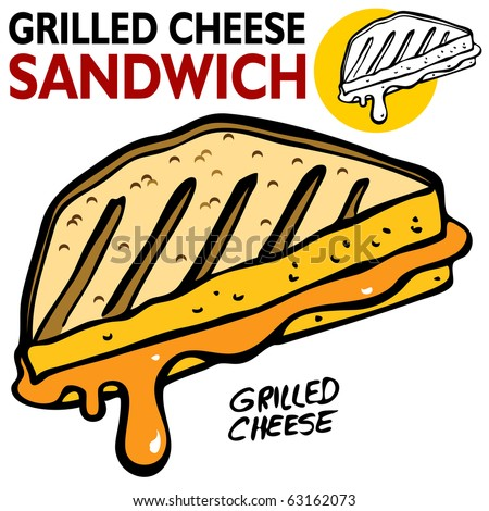 grilled cheese sandwich stock vector 2018 63162073 shutterstock rh shutterstock com Funny Grilled Cheese Funny Grilled Cheese