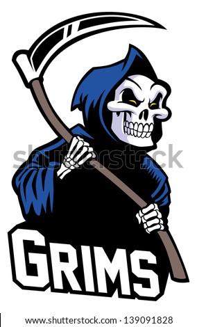 grim reaper mascot - stock vector