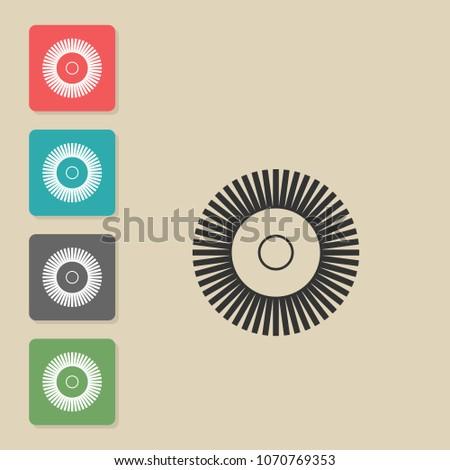 Grinding Polishing Vector Icon Symbol Web Stock Vector 1070769353