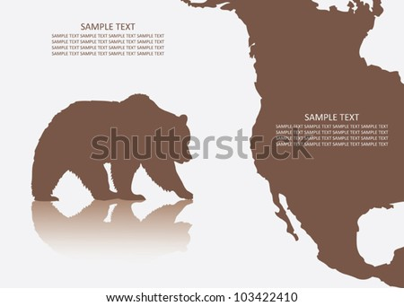 Grizzly bear background - vector illustration - stock vector