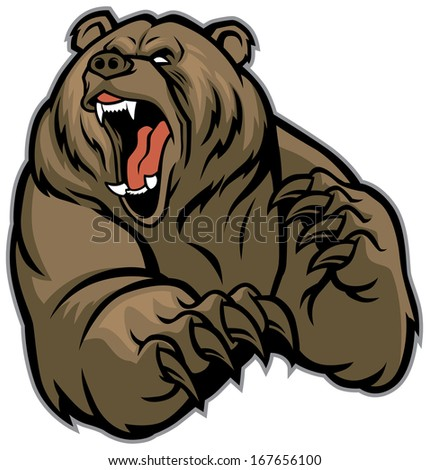 grizzly bear mascot Grizzly Bear Face Logo
