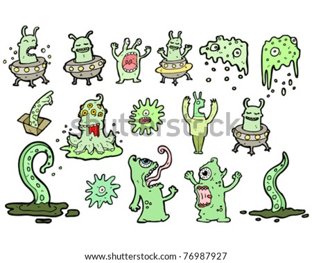 gross aliens cartoon collection