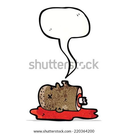 gross severed head cartoon - stock vector