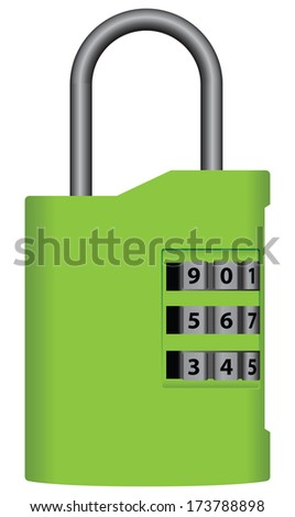 Ground lock bag with a digital dial. Vector illustration. - stock vector