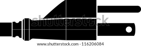 grounded power plug symbol - stock vector