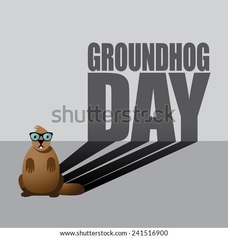 Groundhog Day design. EPS 10 vector stock illustration. - stock vector