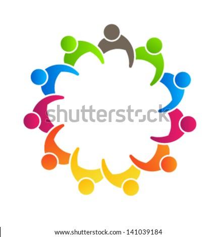 Group Business 11 - logo template - icon vector - stock vector