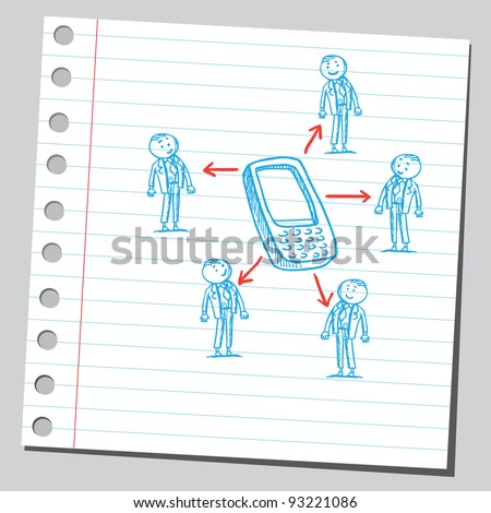 Group connection - stock vector