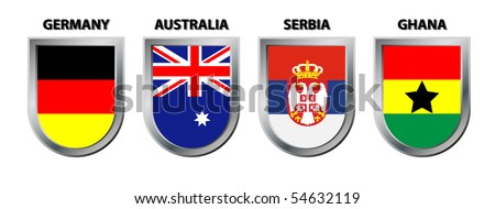 Group D (football championship south africa) - stock vector