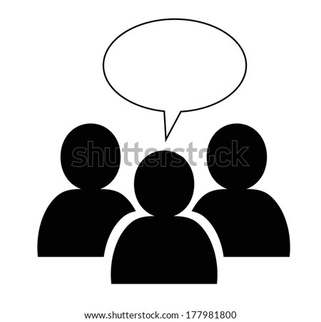 Group icon with speech bubble - stock vector