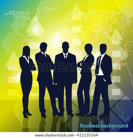 Group of Business people, business background - stock vector