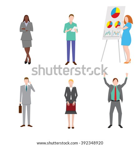 Group of Business People - Isolated - Vector Illustration - stock vector