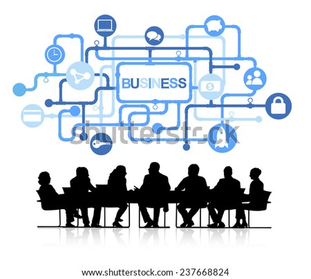 Group of Business People with Business Concept - stock vector