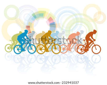 Group of cyclist in the bicycle race