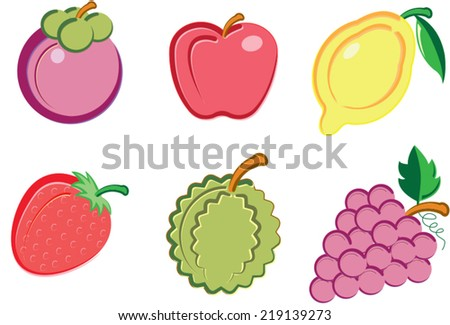 Group of fresh fruit