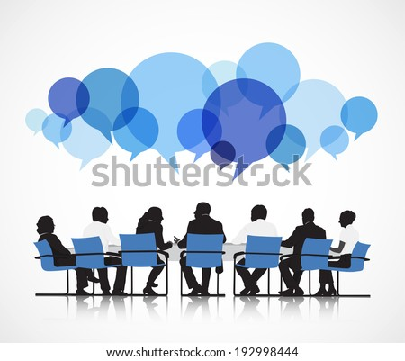 Group of People Discussing - stock vector