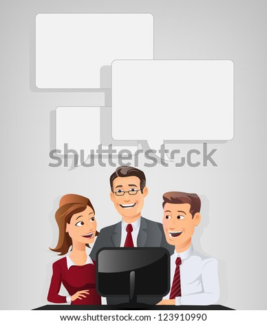 Group of people Discussing. Fully editable vector graphics. - stock vector