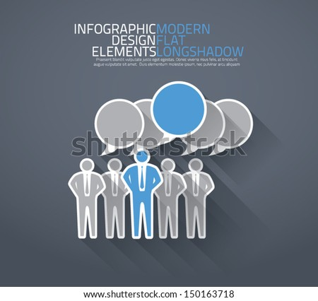 Group of people discussing together vector - stock vector