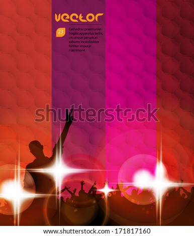 Group of people having a good time. Vector - stock vector