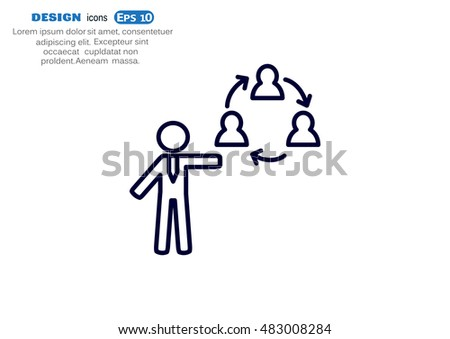 Group of people icon Flat.