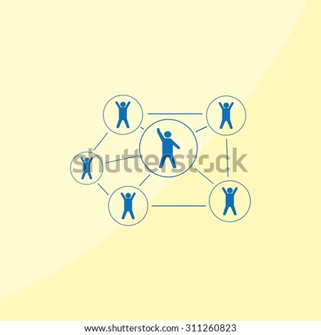 Group of people icon, vector illustration. Flat design style