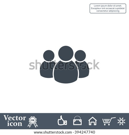 Group of people sign icon - stock vector
