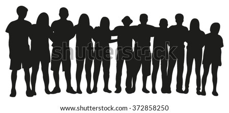 Group of People Silhouette