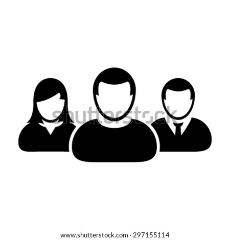 Group of User, Management Team Leader Icon - Vector