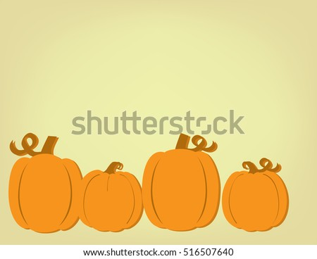 Group of Vintage Style Pumpkins on Parchment Background Room for Text