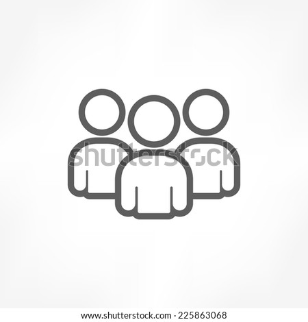 group people icon - stock vector