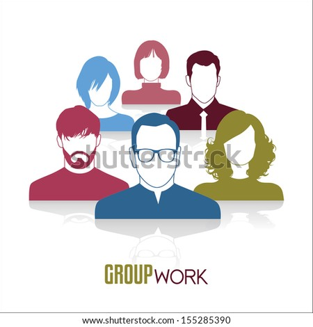 Group work - stock vector