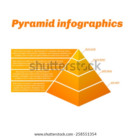 Grow pyramid infographics with gradient. - stock vector