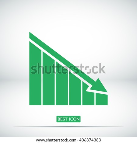 Growing bars graphic icon