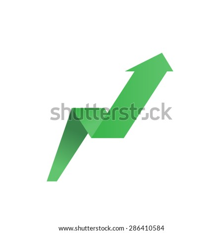 Growing graph. Vector up arrow - stock vector