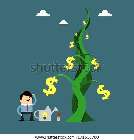 Growing money - stock vector
